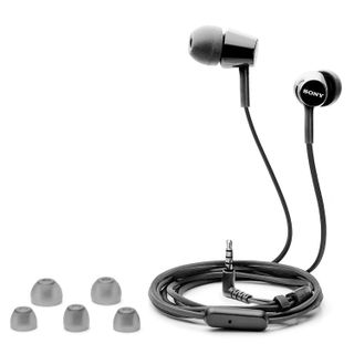 SONY / Headphones with microphone (headset) MDR-EX155AP, wired, 1.2 m, in-ear, stereo, black