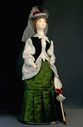 Doll gift porcelain. Day suit for visits. 1870 city of Petersburg - view 1
