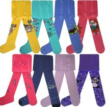 Tights for children with a variety of patterns