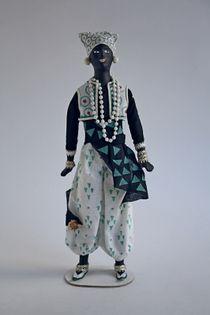 Doll gift. Piligrimm. The ballet 'the Blue God'. Sketch By Leon Bakst.