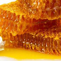 Honey, saffron, halva tahini