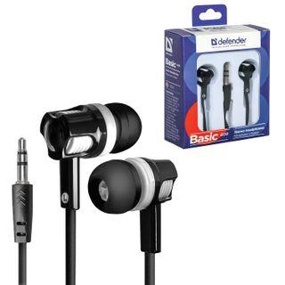 DEFENDER / Headphones Basic 609, wired, 1.1 m, stereo, in-ear, black