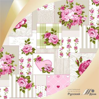 Calico printed No. 570-4P Patchwork