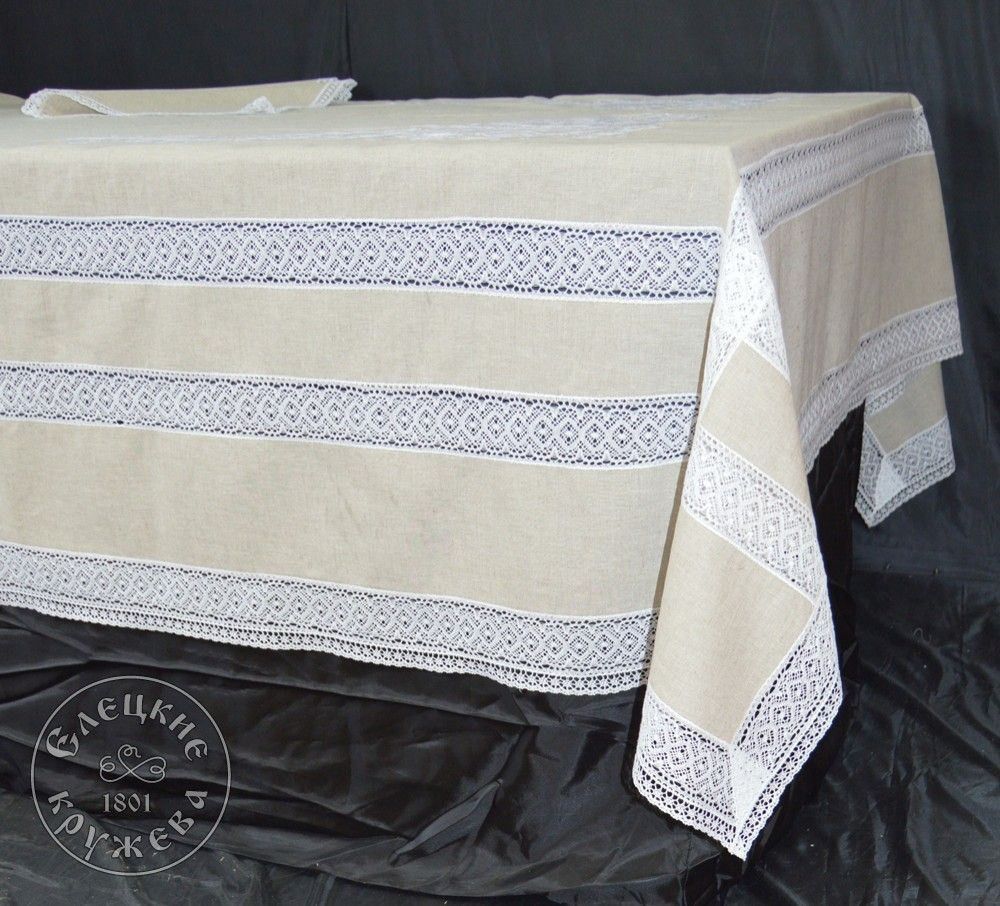 "Yelets lace / Table set ""Tablecloth and napkins"" С529"