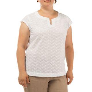 Blouse women's Gloria white with silk embroidery