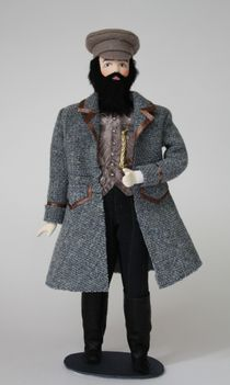 Doll gift porcelain. Merchant. The class suit. The late 19th - early 20th century Russia.