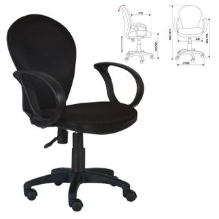 Chair CH-687AXSN, with armrests, black