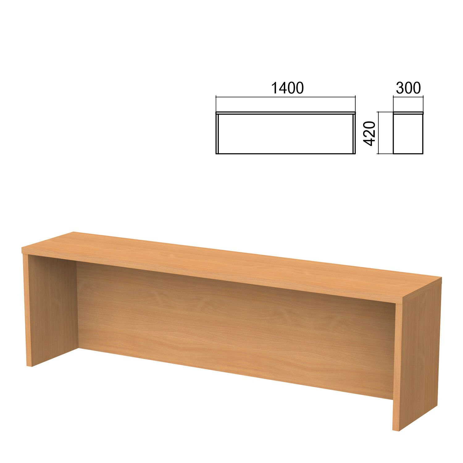 Argo table add-on, 1400 mm wide, aroso pear