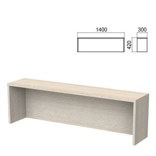 Argo table add-on, 1400 mm wide, ash shimo