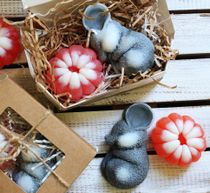 Set of handmade soap Mouse with tangerine
