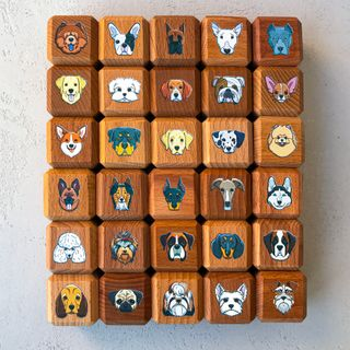 "Educational blocks ""Dog"", 30 PCs in a linen pouch"