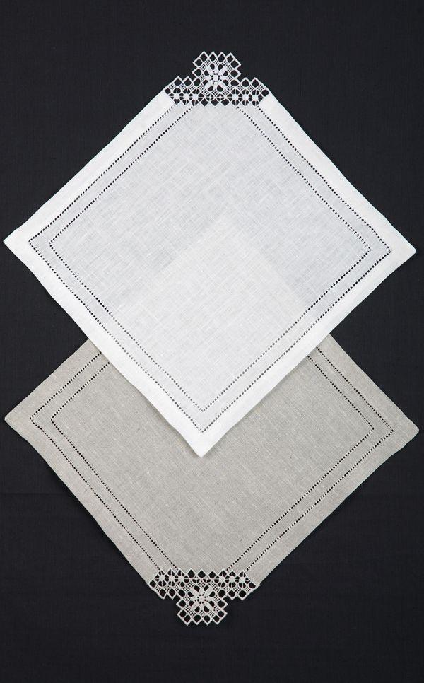 Linen serving napkin