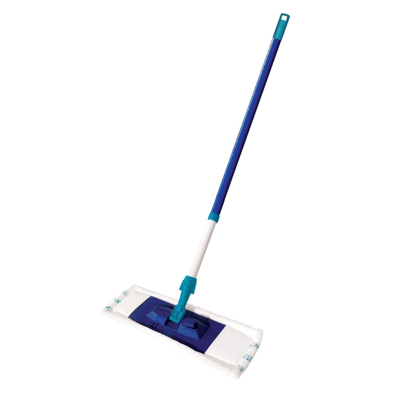 "YORK / ""Smart"" mop with 40 cm flounder, MOP microfiber (TYPE K), telescopic handle 130 cm, Euro thread"