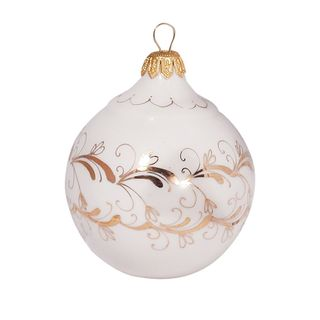 Elochnaya toy Balloon linen-gold, Gzhel Porcelain factory