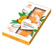 Colored chocolate with mango and coconut 100 g