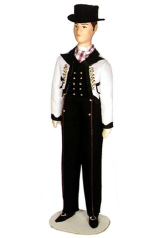Doll gift. The Norwegian men's suit.