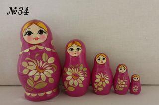 Vyatka souvenir / Painted, inlaid matryoshka 5 ave.