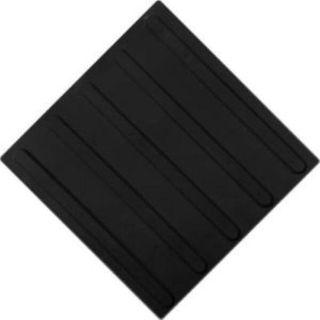 Tactile tiles, PVC, longitudinal reefs, black, size 300x300x4 mm