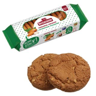 POSIDELKINO / Oatmeal cookies with aromatic almonds, 310 g