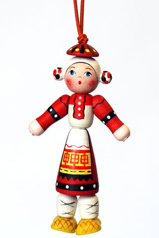 Doll gift Girl in Russian folk costume, Smolensk province