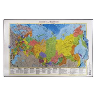 Mat-lined Board for writing (590х380 mm), with a map of Russia, DPS