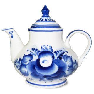 Kettle small author Petrov, Gzhel Porcelain factory