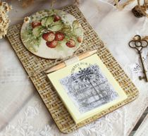 Handmade souvenir Fridge magnet Strawberry with a block for notes