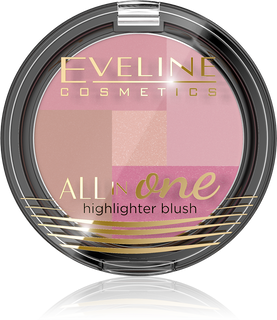 Multi color blush palette No. 02 series all in one, Eveline