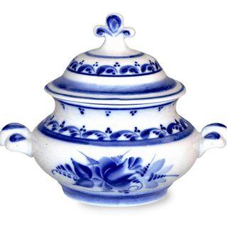 Sugar bowl Bell 2nd grade, Gzhel Porcelain factory