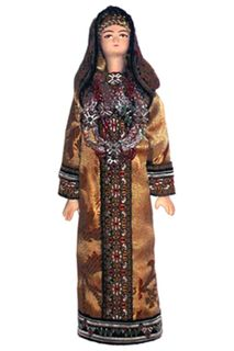 Doll gift porcelain. Yemeni Jewish wedding in costume.