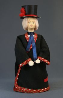 Doll gift porcelain. Estonia. Men's traditional costume. Late 19th - early 20th century.