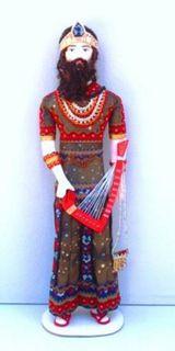 Doll gift. Syrian harpist. Theatre. costume Bakst