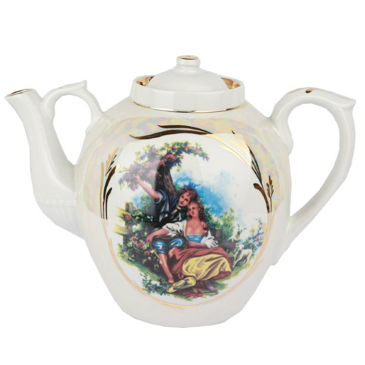 Dulevo Porcelain / Teapot 4500 ml Russian Mother of Pearl