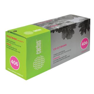 Toner cartridge CACTUS (CS-CLT-M406S) for SAMSUNG CLP-365 / 365W, magenta, resource 1000 pages