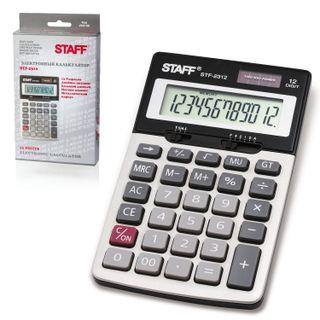 Desktop metal calculator STAFF STF-2312 (175x107 mm), 12 digits, dual power supply