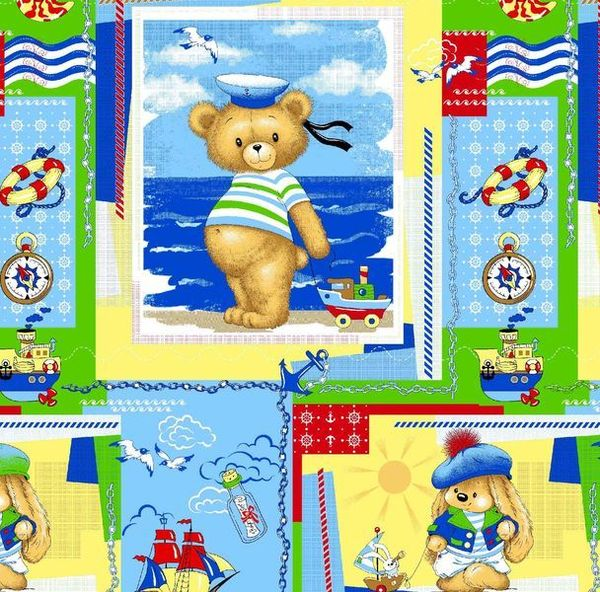 Calico printed No. 665 Bear sailor