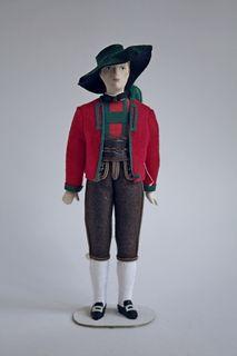 Doll gift. Men's festive costume. 19th century. Austria.
