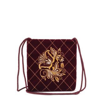 "Velvet bag ""the moon"" Burgundy with gold vyshivki"