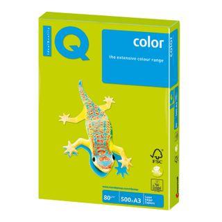 Paper I'color BIG FORMAT (297 x420 mm), A3, 80 g/m2, 500 sheets, neon, green