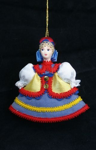 Doll gift. Maiden traditional Ukrainian costume.