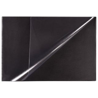 Mat-lined Board for writing (590х380 mm), with transparent pocket, black, BRAUBERG