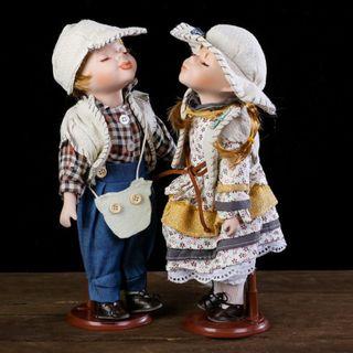 """Dolls porcelain """"Ksenia and Serezha"""""""