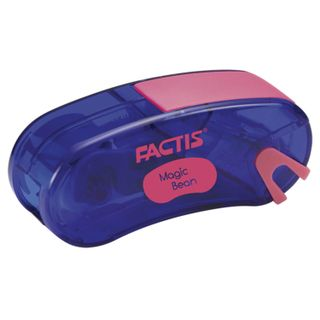 Sharpener FACTIS Magic Bean (Spain), with the container and eraser, 65x30x20 mm, assorted