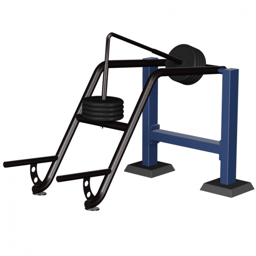 MB Barbell / Outdoor Strength Machine for Combined Upper / Lower Body Press, Variable Load Core Var. 1