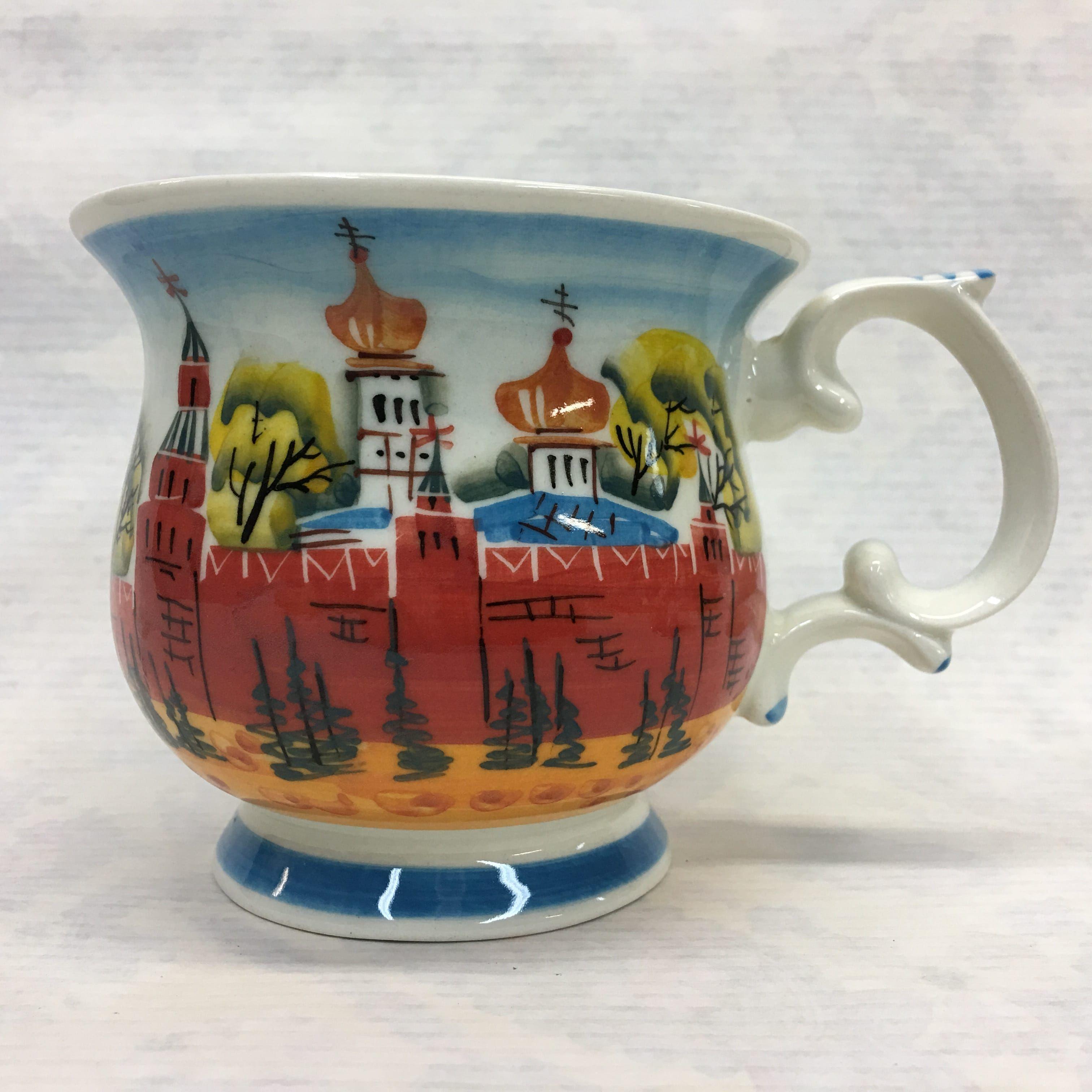 "Cheerful porcelain / Porcelain cup ""Kremlin Moscow"", author Ogorodnikova O."