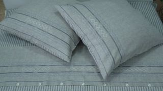 Linen bed linen set with HARMONY embroidery