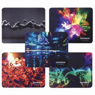 SONNEN / ABSTRACTION mouse pad, rubber + fabric, 220х180х3 mm, 5 types