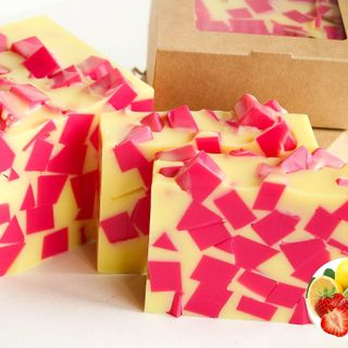 Strawberry-Lemon whetstone 500g - handmade fragrant soap
