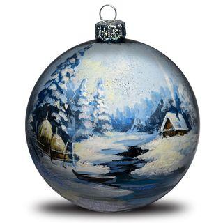 Christmas ball Winter landscape