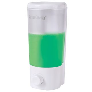 LAIMA / Dispenser for liquid soap in bulk, 0.38 l, ABS-plastic, white (matt)